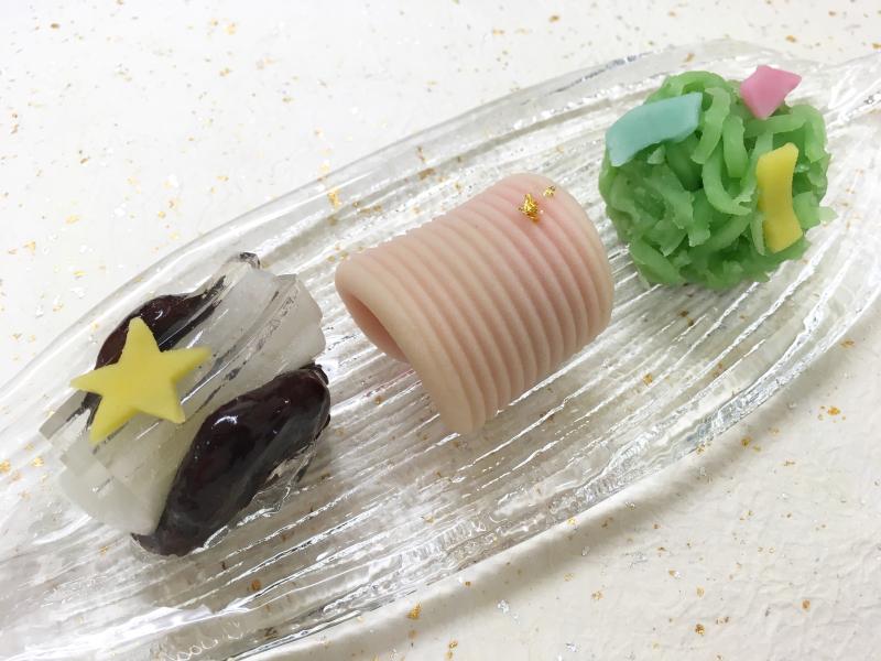 七夕上生菓子3種